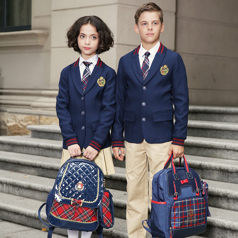 sports shoes online coupon code [Hot Item] Navy Blue School Blazer and Khaki Pants for School Wear