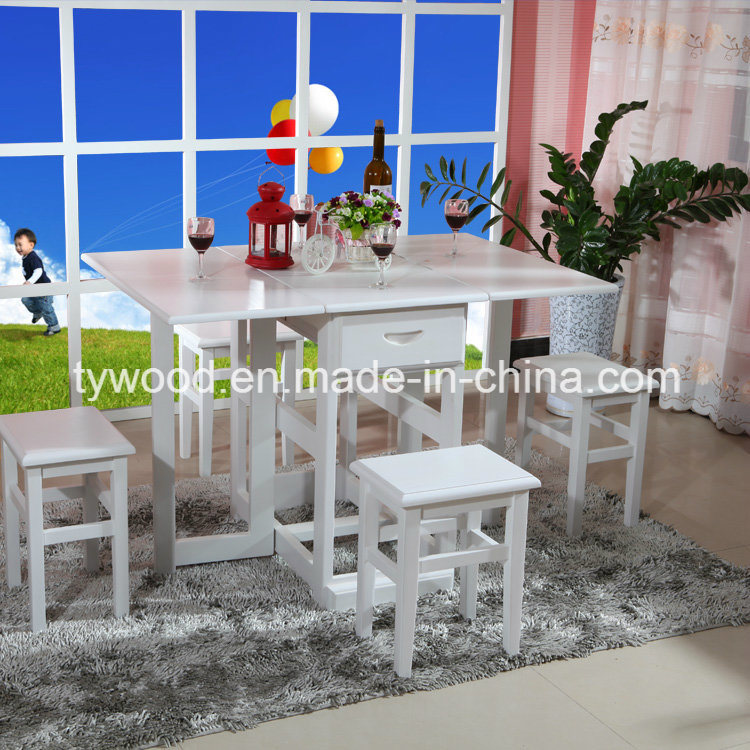 Space Saving Folding Butterfly Table 4 Stools pictures & photos
