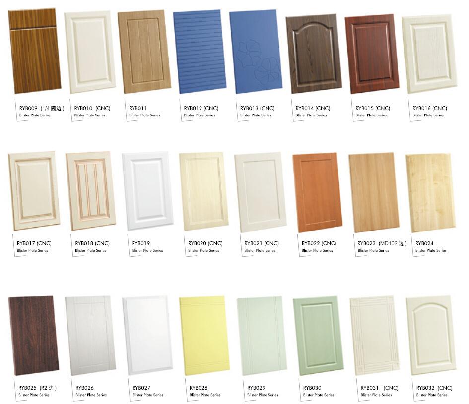 Pvc Kitchen Cabinet Doors: China PVC Vacuum Forming Kitchen Cabinet Door (001