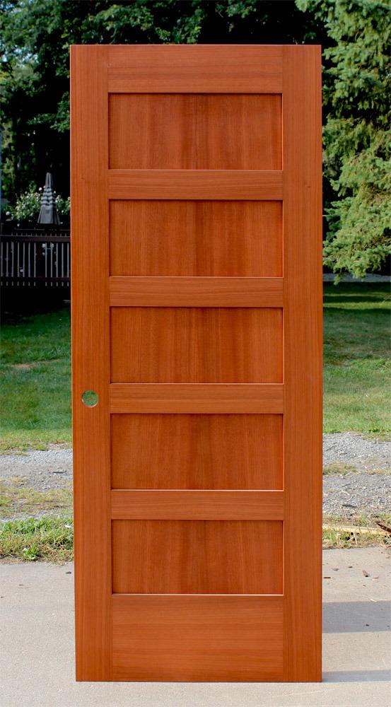 Rail 5 Panel Oak Wood Door Shaker