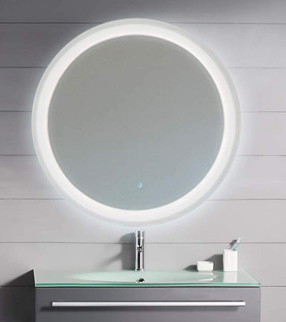 China 26 Led Lighted Round Mirror Wall Mount Circle Illuminated Bathroom Vanity Mirror With Anti Fog Demister Pad Built In Touch Switch Photos Pictures Made In China Com