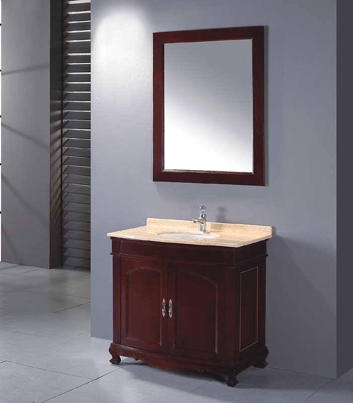 China Solid Wood Bathroom Cabinet Bathroom Vanity