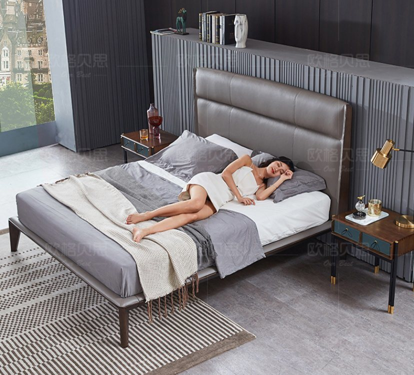 China 2020 Wooden Furniture Hotel Bedroom Furniture Double Bed China King Size Queen Size