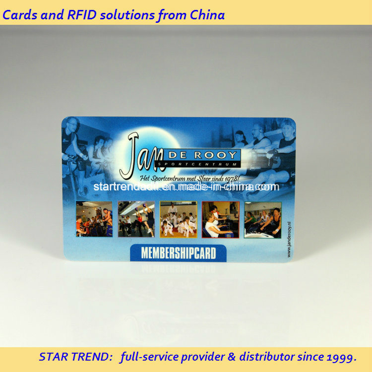 Gym Member Card Made of Plastic with Magnetic Stripe (ISO 7811) pictures & photos