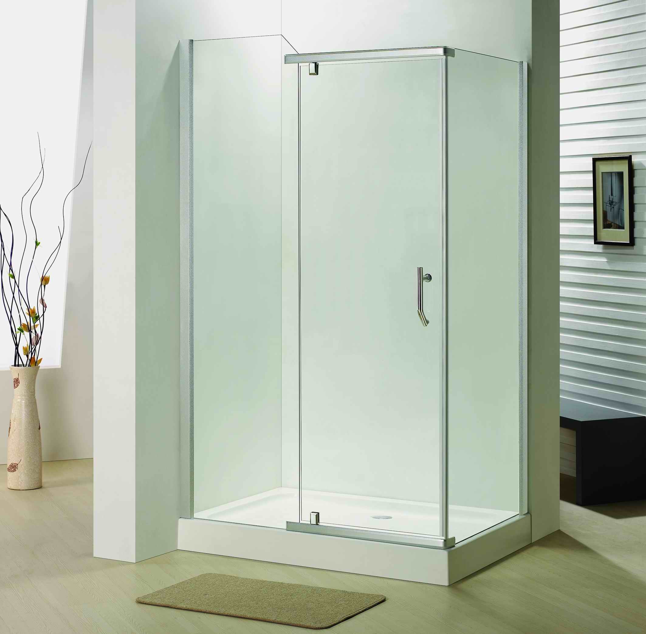 Hot Item Bathroom 8mm Tempered Glass Pivot Door Shower Door Enclosure Bb6382