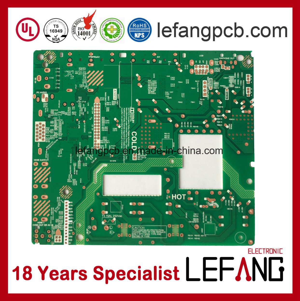 China Fm Transmitter Circuit Board Pcb Supplier For Communication Electronics Printed Pcba