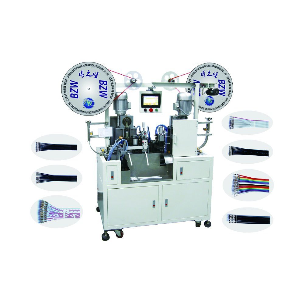 China Double-End Flat Cable and Wire Terminal Crimping Machine ...