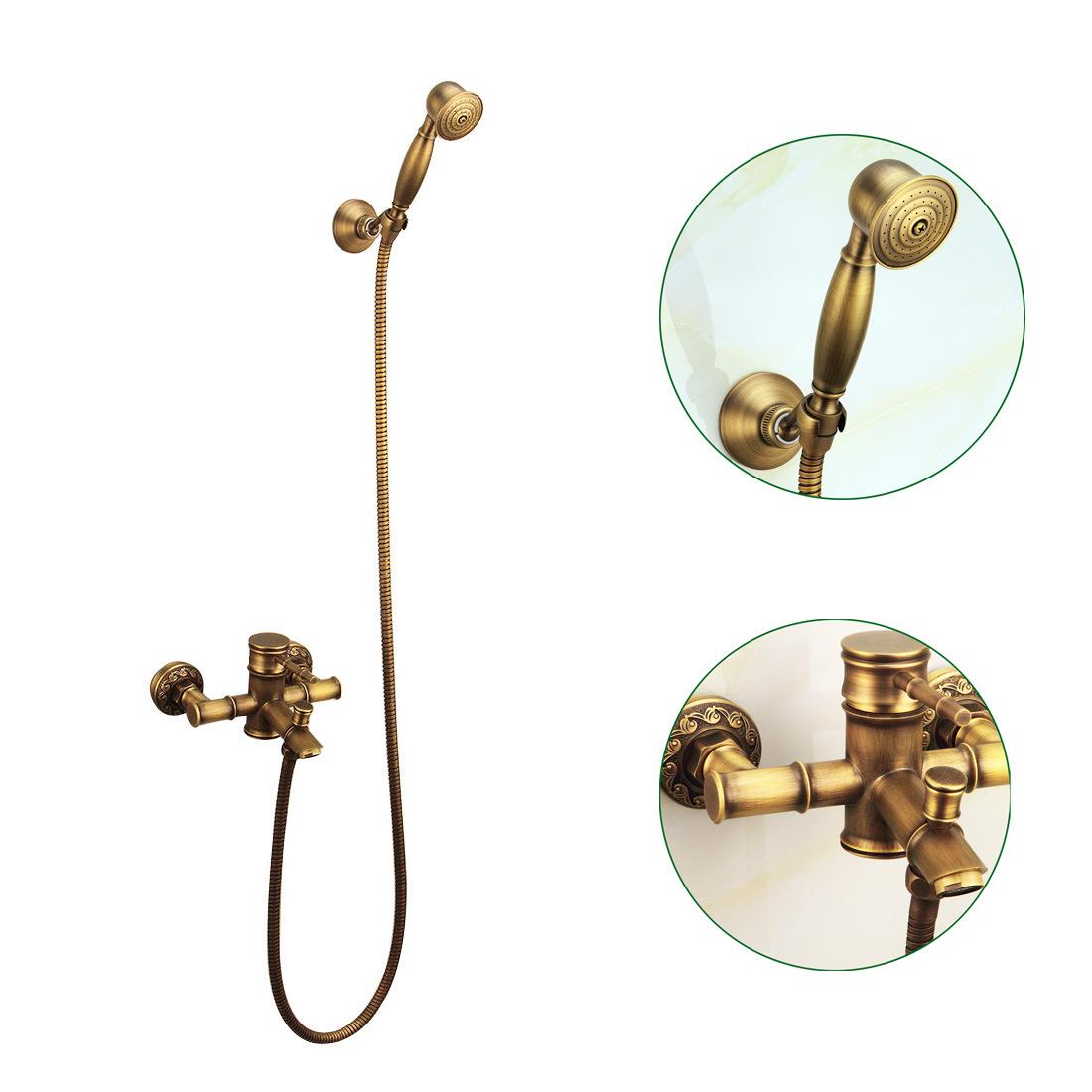 China FLG Antique Bamboo Faucet Bathroom Basin Water Shower Set ...