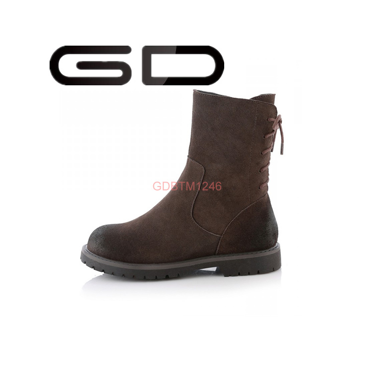 Arrival Concise Elegant Nude Half Boots