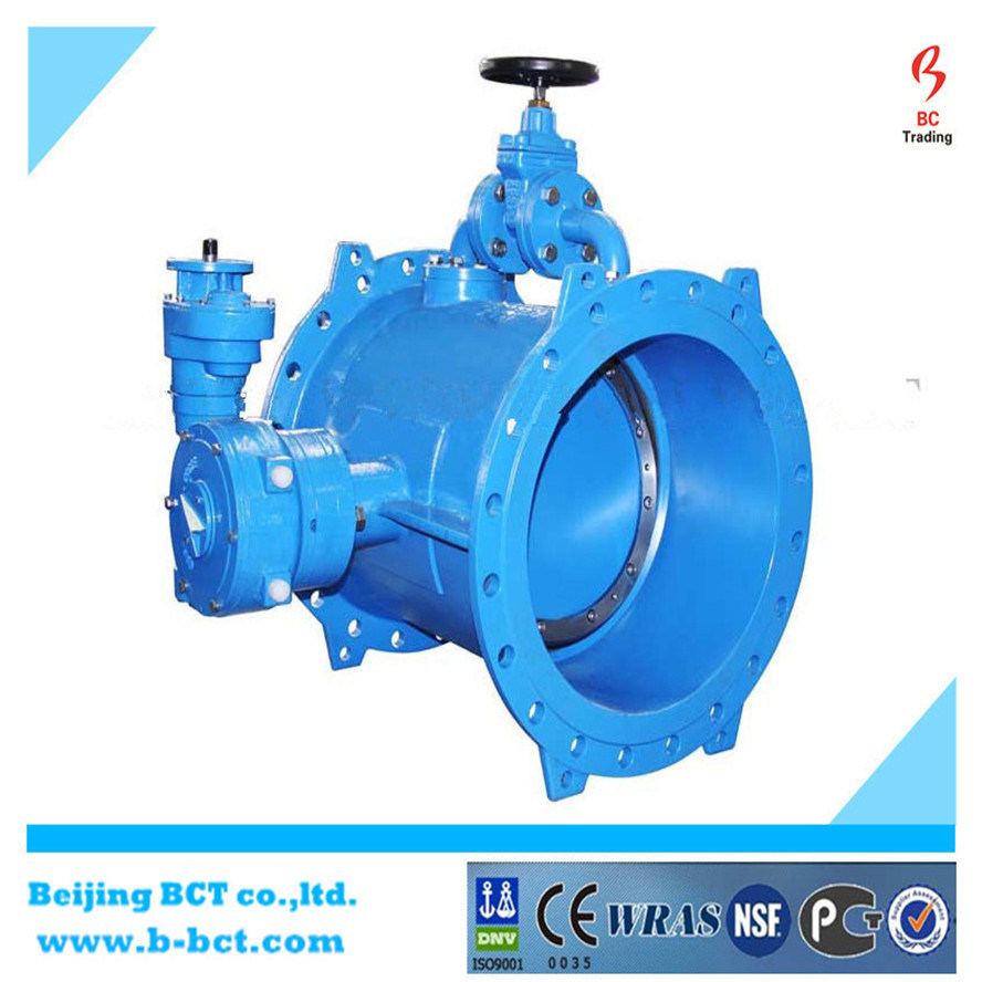 F5 Double Flanged Eccentric Butterfly Valve with Bypass Valve pictures & photos