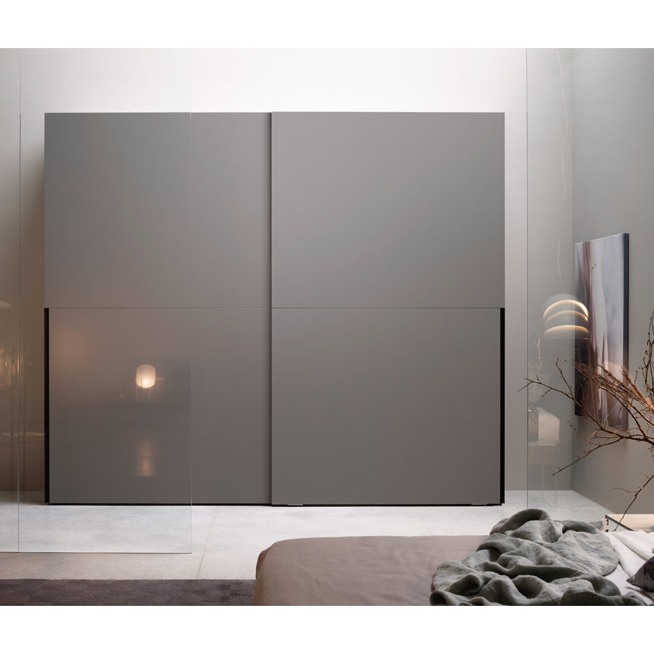 China Modern Double Sliding Door Closet Storage Wardrobe Designs Bedroom Furniture Cloth Cabinet China Wardrobe Closet