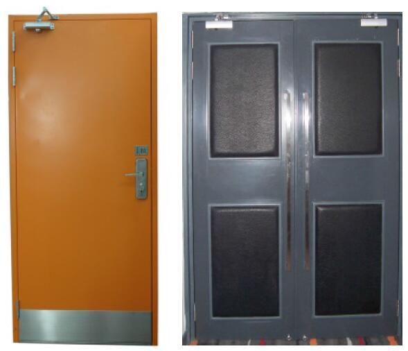 China Exterior Interior Wood Steel Composite Fire Door Photos