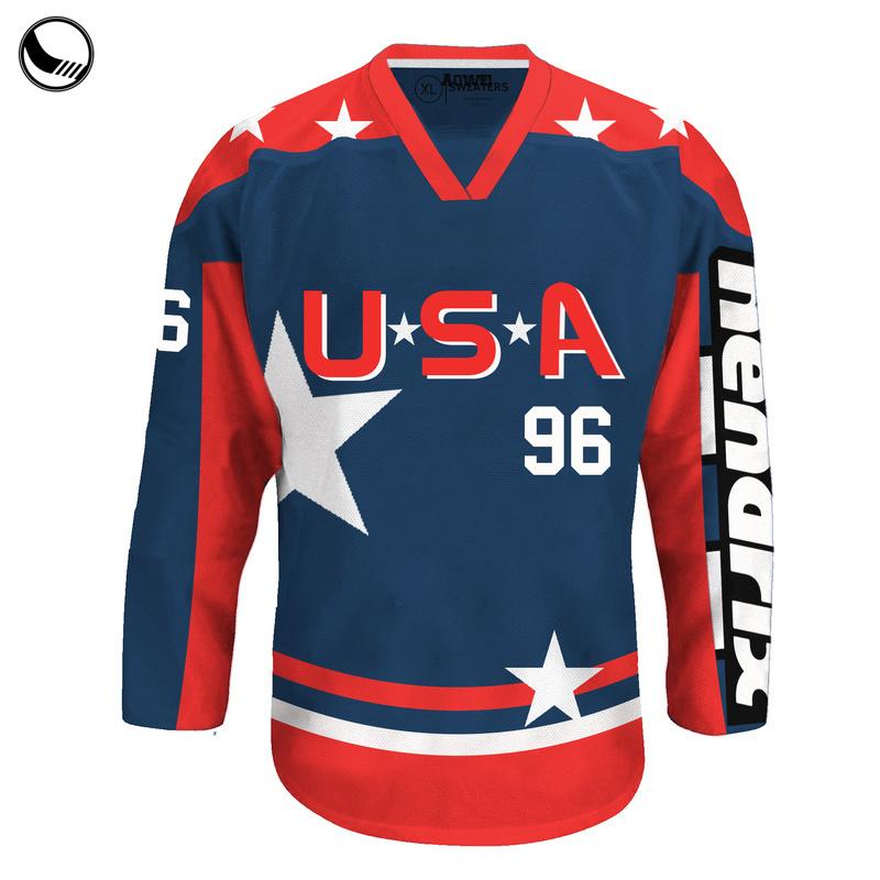 859cbe4b1 Customized Made Sports Wear Fashion Lace up Wholesale Blank Hockey Jersey
