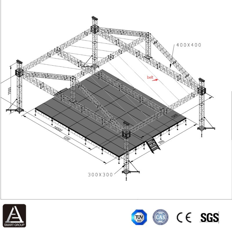 Easy Install Cheap Small Concert Sound And Lighting DJ System Stage Truss