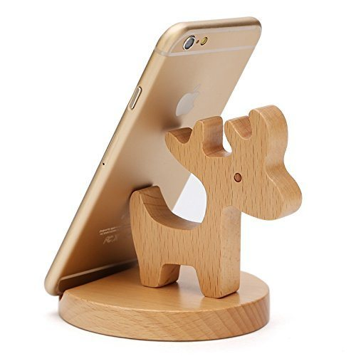 [Hot Item] Natural Wooden Handcrafted Smartphone Phone Holder with Coins  Slot