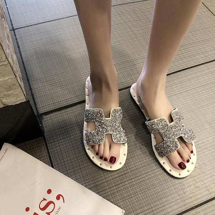 China Stylish Fashion Design Flat Heel Sandal For Women China Women Sandals And Lady Shoes Price