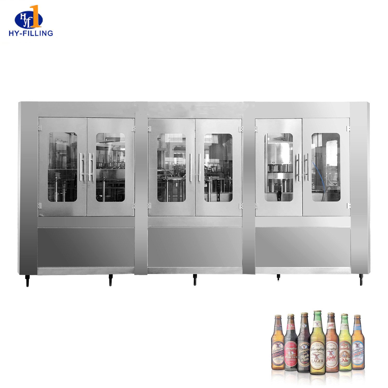 [Hot Item] 6000bph Small Capacity Automatic 3 in 1 Glass Bottle Vodka Beer  Bottle Filling Machine
