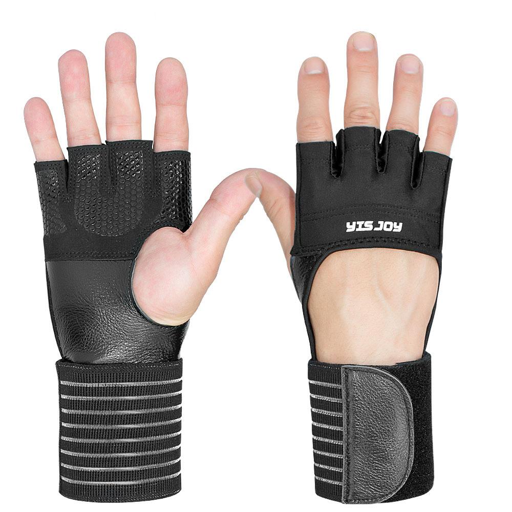 Finger-less Padded Gloves Training bag Fitness Gym Gloves Half Finger Gloves