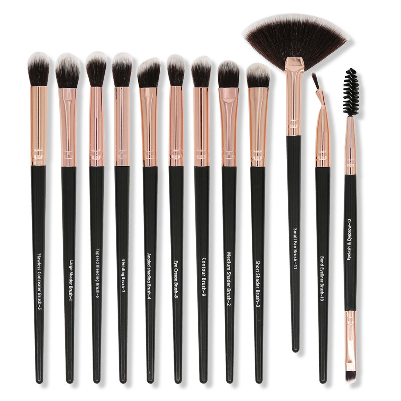 China 12 PCS Makeup Brushes Set