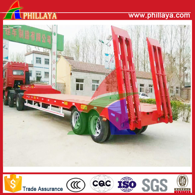 40tons 2 Axles Heavy Duty Truck Low Bed Trailers pictures & photos