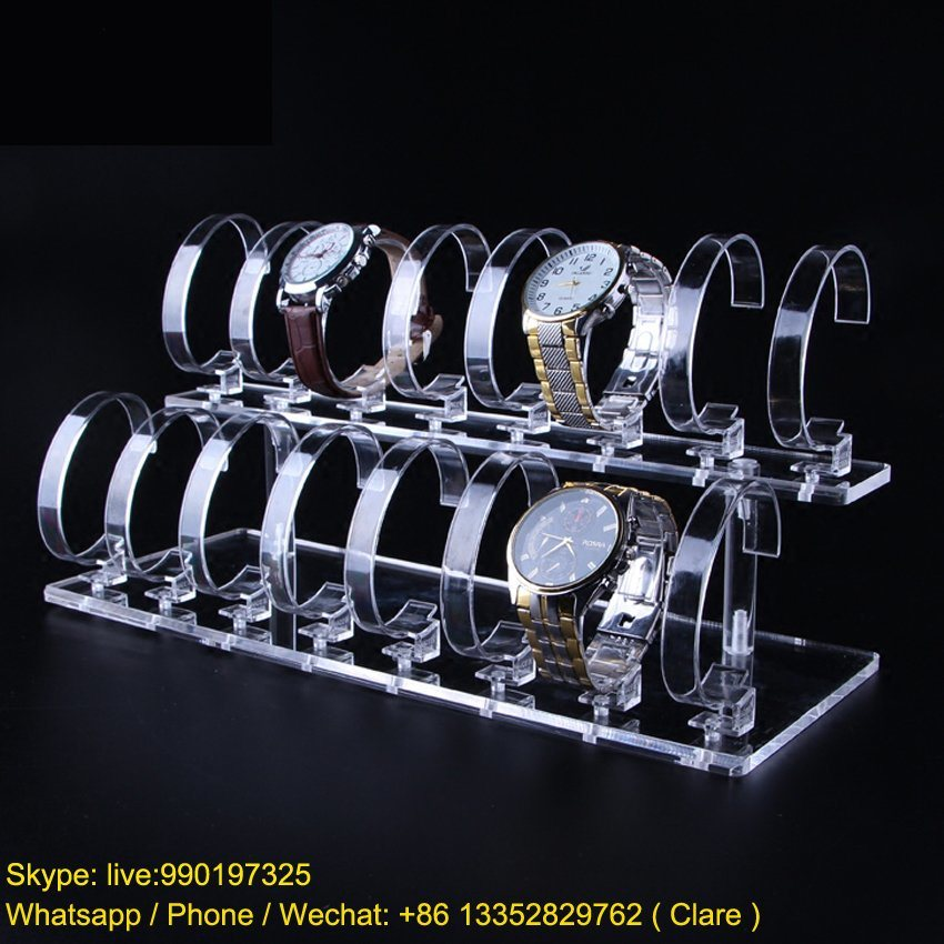 2 Tiers Acrylic Watch Display Rack pictures & photos