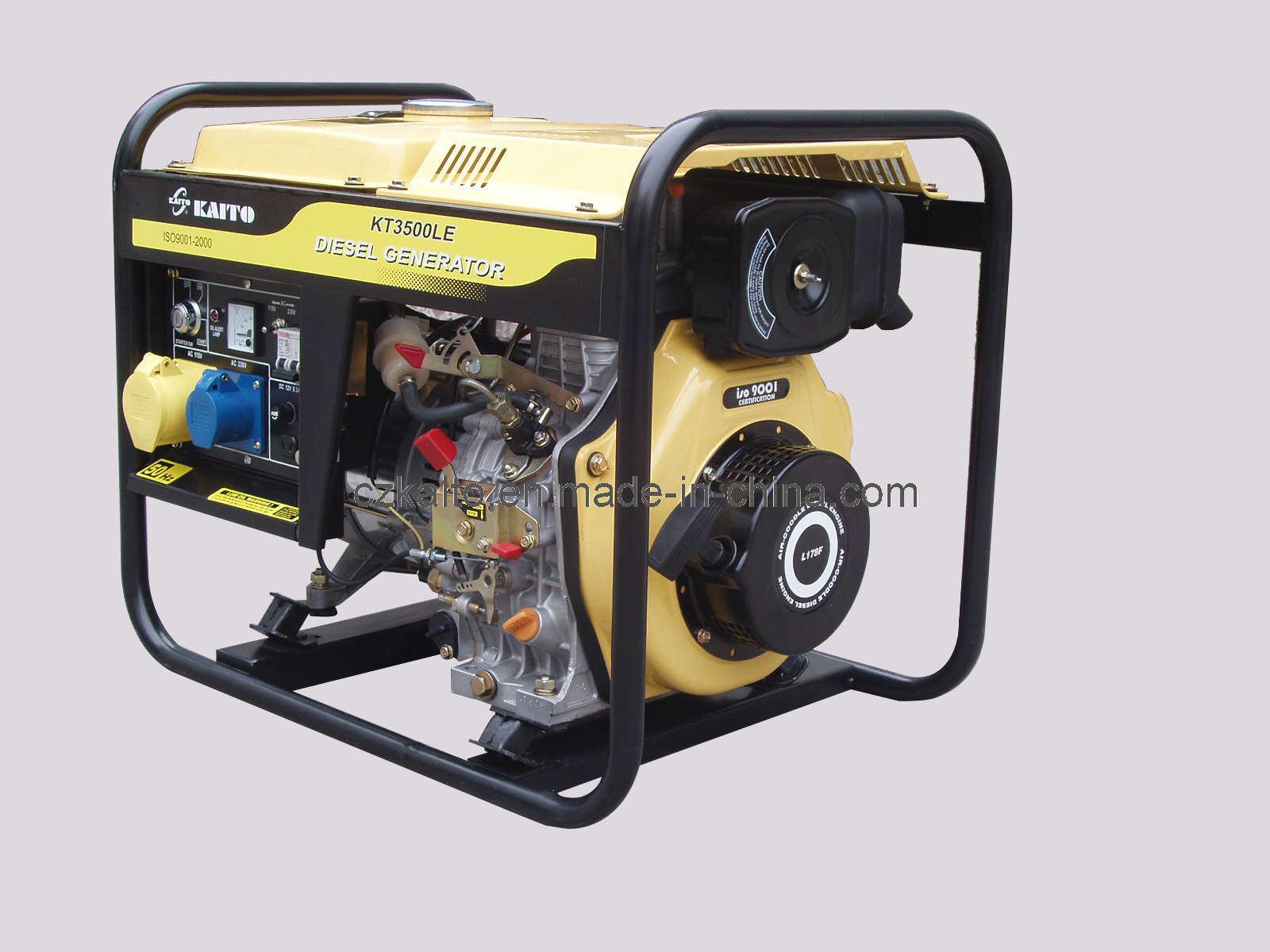China 3kw Diesel Generator KT3500LE China Air Cooled Diesel