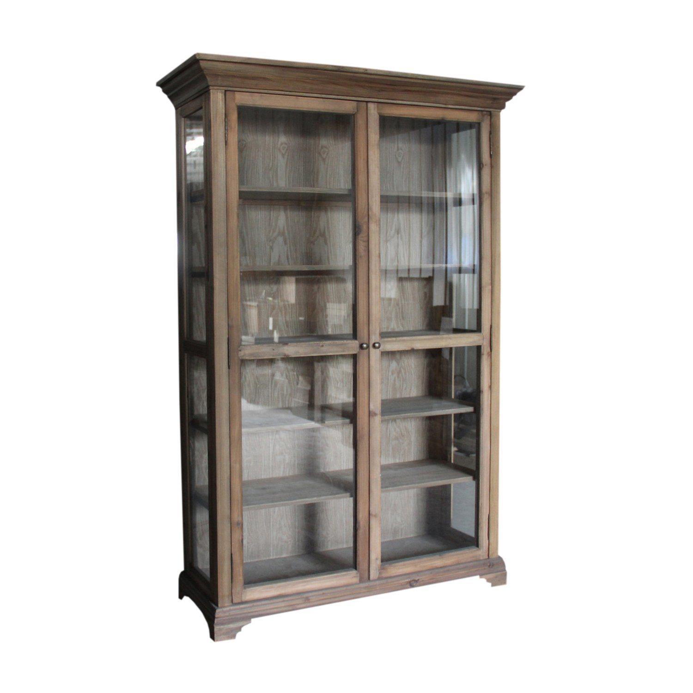Gl Door Shelf Storage Cabinet