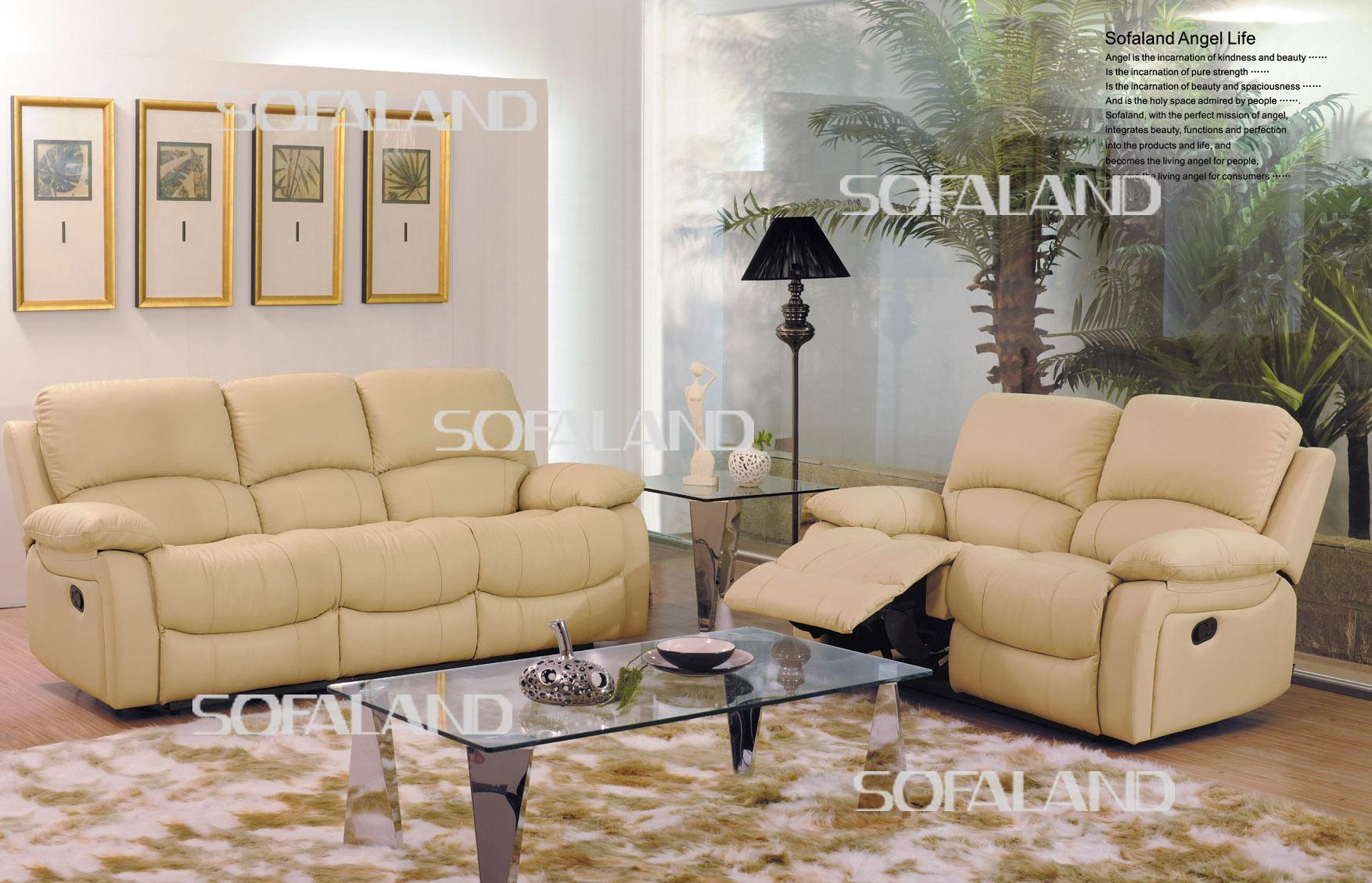 China High Back Light Color Leather Recliner Sofa China Leather