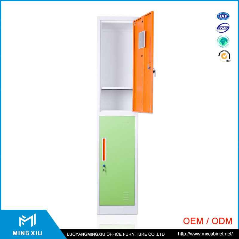 Mingxiu School Gym Room Furniture Kd Structure Design Metal Clothes Storage Lockers 2 Door Steel Locker pictures & photos