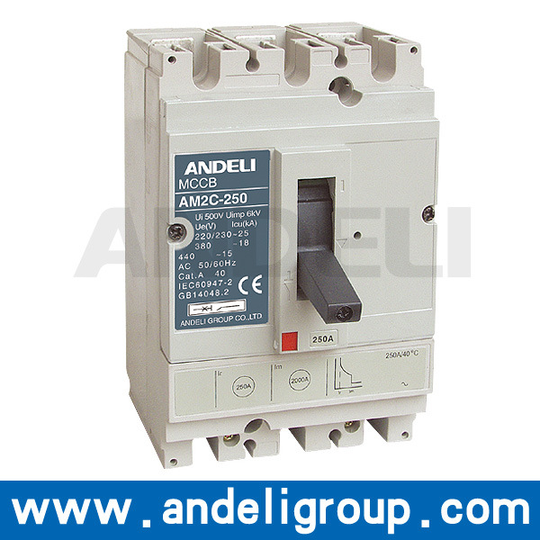 100A MCCB 4 Pole Electrical Circuit Breaker (Am2c)