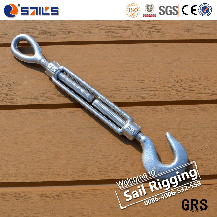 China Turnbuckle Hook Eye Forged Galvanized Wire Rope Turnbuckle ...