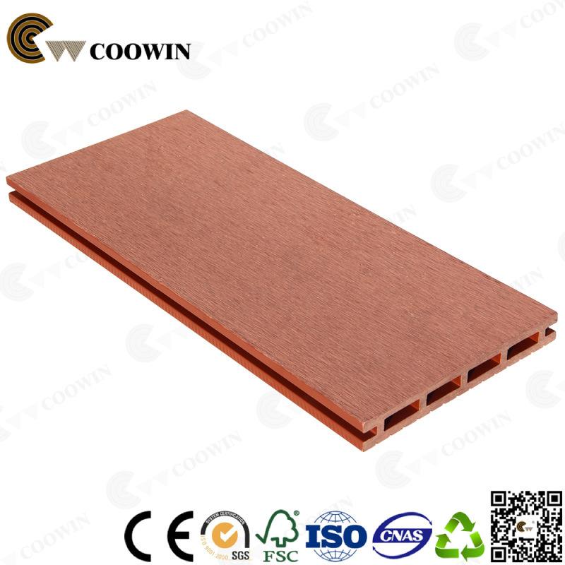 Extruded Outdoor Waterproof Brown Pvc Wood Plastic Decking