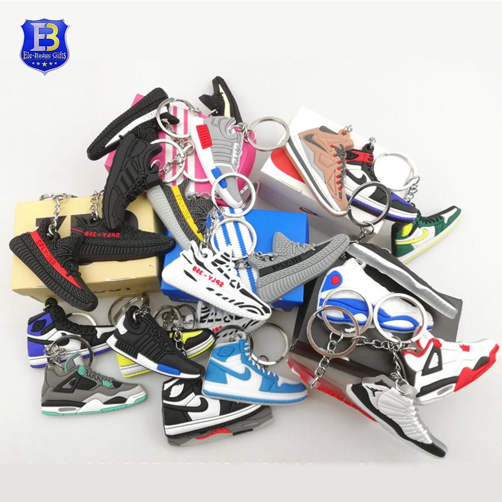 [Hot Item] Wholesale 2D 3D Rubber PVC Jordan Basketball Shoes Sneaker Keychain