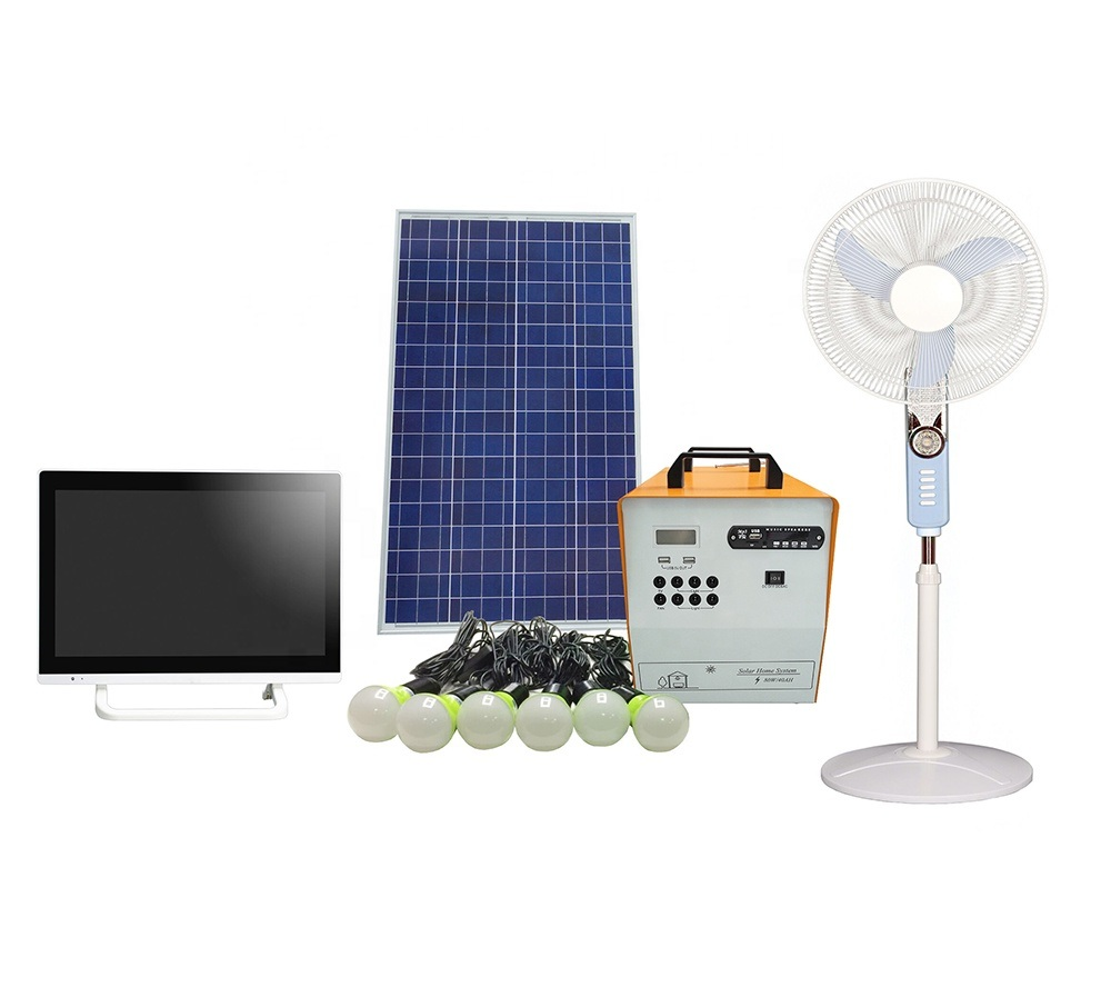 200W Solar PV Panel Energy Home LED Lighting Kits Portable UPS Power Suppy System pictures & photos