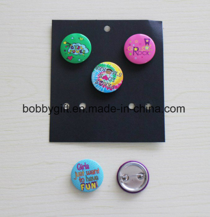 Custom Cute Tin Emblem Button Badge for Advertising Gifts