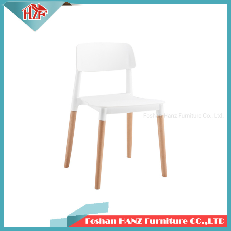Sensational China Hz 312Cafe Coffee Shop White Plastic Wooden Leg Dining Bralicious Painted Fabric Chair Ideas Braliciousco
