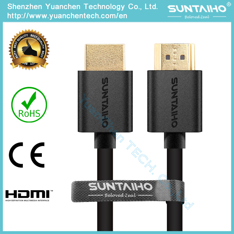 Wholesales 24k Gold 1.4/2.0V HDMI Cable Highspeed for 3D/4k/HDTV/PS31080P/2160p pictures & photos