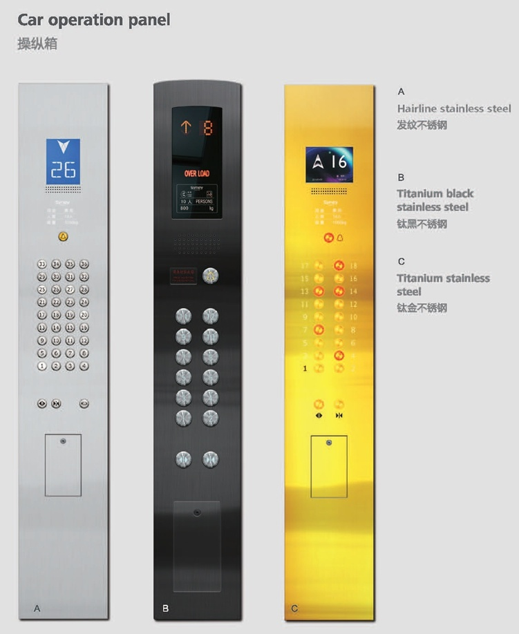 Smr Passenger Lift with Golden Etching Decoration