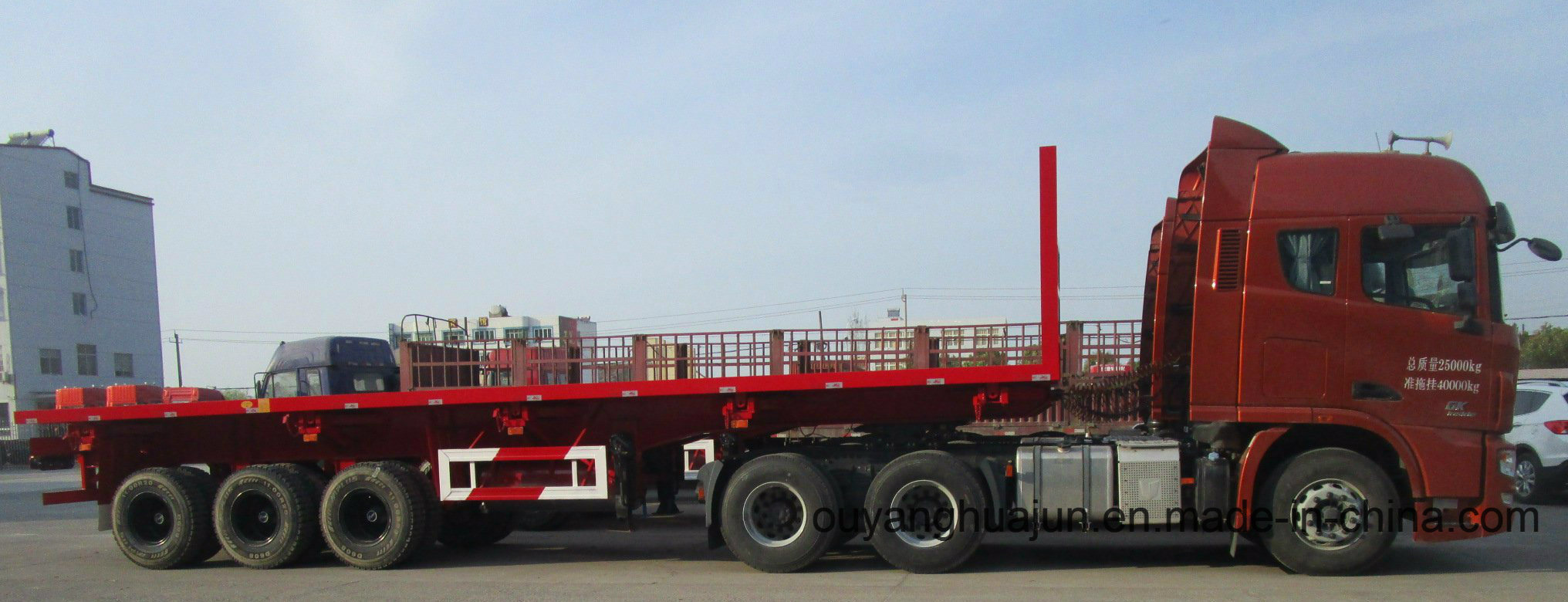 Rear Tipper Platform Self Dump Semitrailer