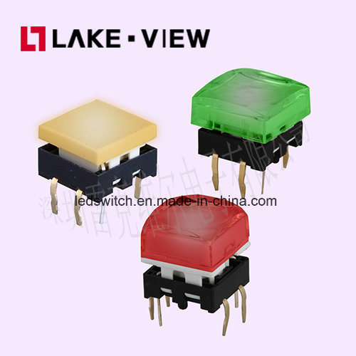 12*12 Square Illuminated Tactile Switch with Multiple LED Color Options pictures & photos