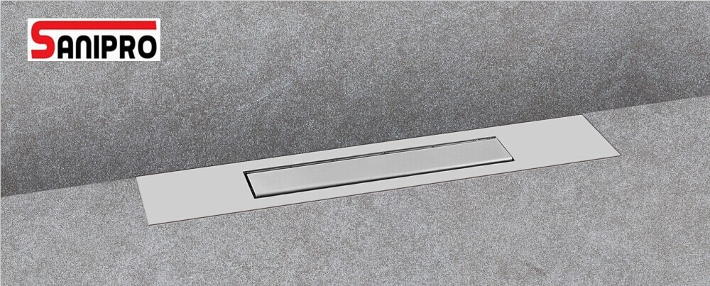 China Sanipro Stainless Steel Linear Shower Drain Grate Bathroom Floor  Trench Drain