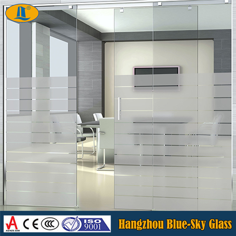 China Frosted Tempered Glass Panel For Kitchen Cabinet Door China