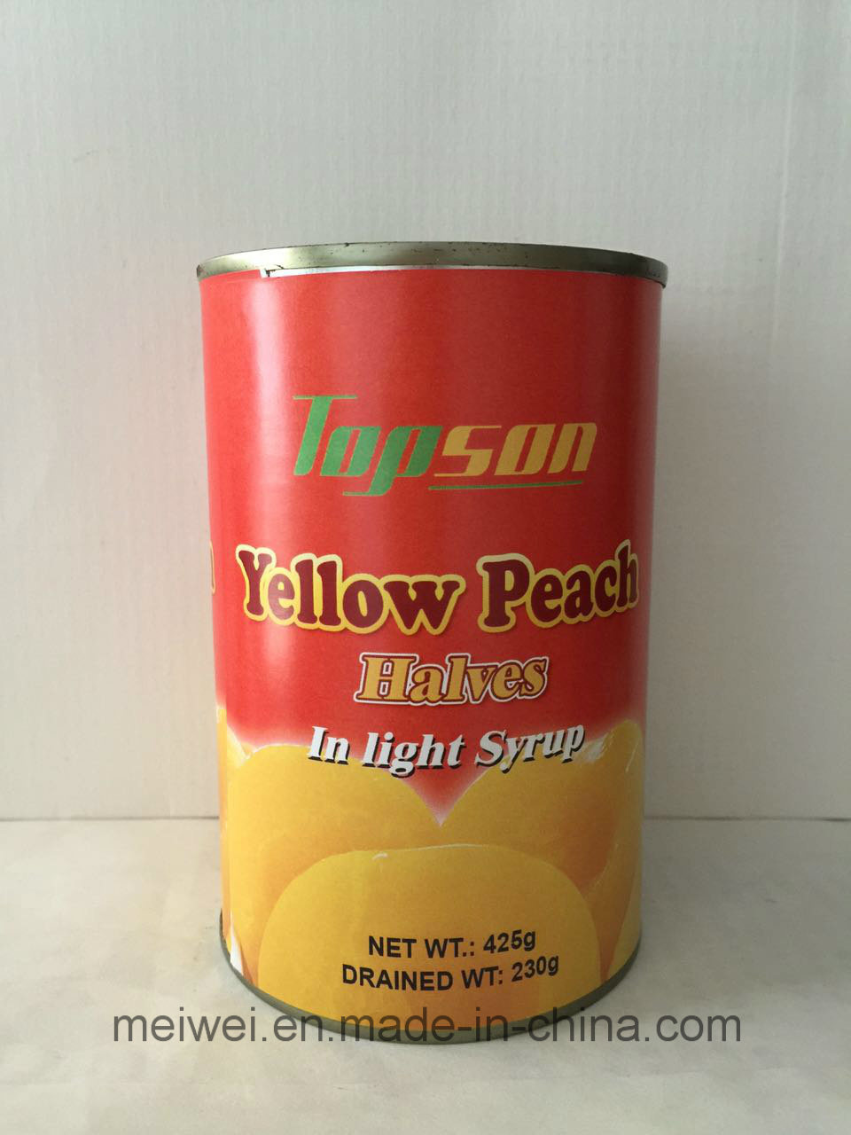 Canned Yellow Peach Halves in Light Syrup