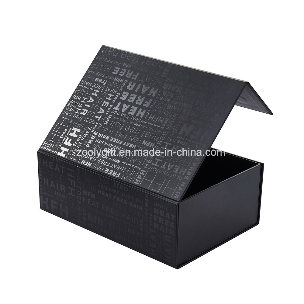 China Spot Uv Magnetic Foldable Hair Extension Packaging Gift Paper