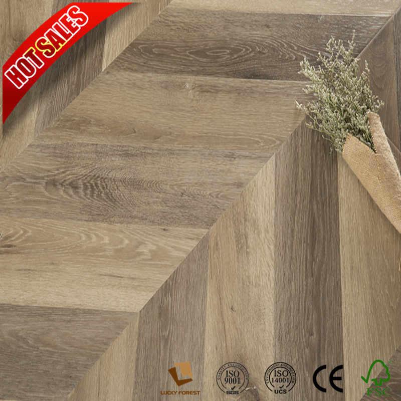 China Best 12mm High Gloss Laminate Flooring Teak Wood Hardwood Building Material
