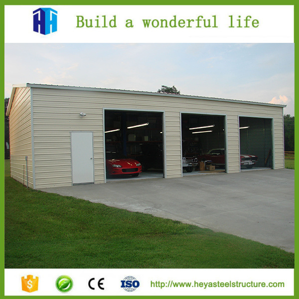 China Low Cost Factory Workshop Steel Structure Building Car Garage ...