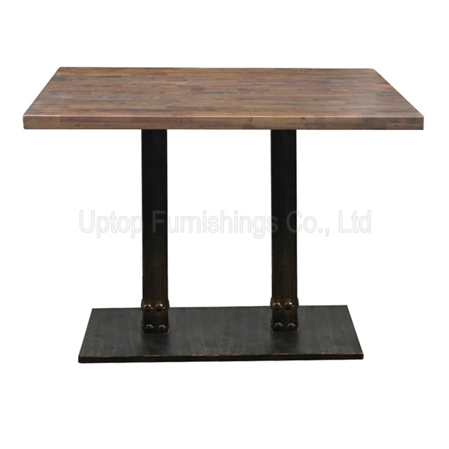 China (SP-RT500) Uptop Vintage Cafe Furniture Cast Iron Wood Restaurant  Table or Dining Table - China Cafe Table, Industrial Cafe Table