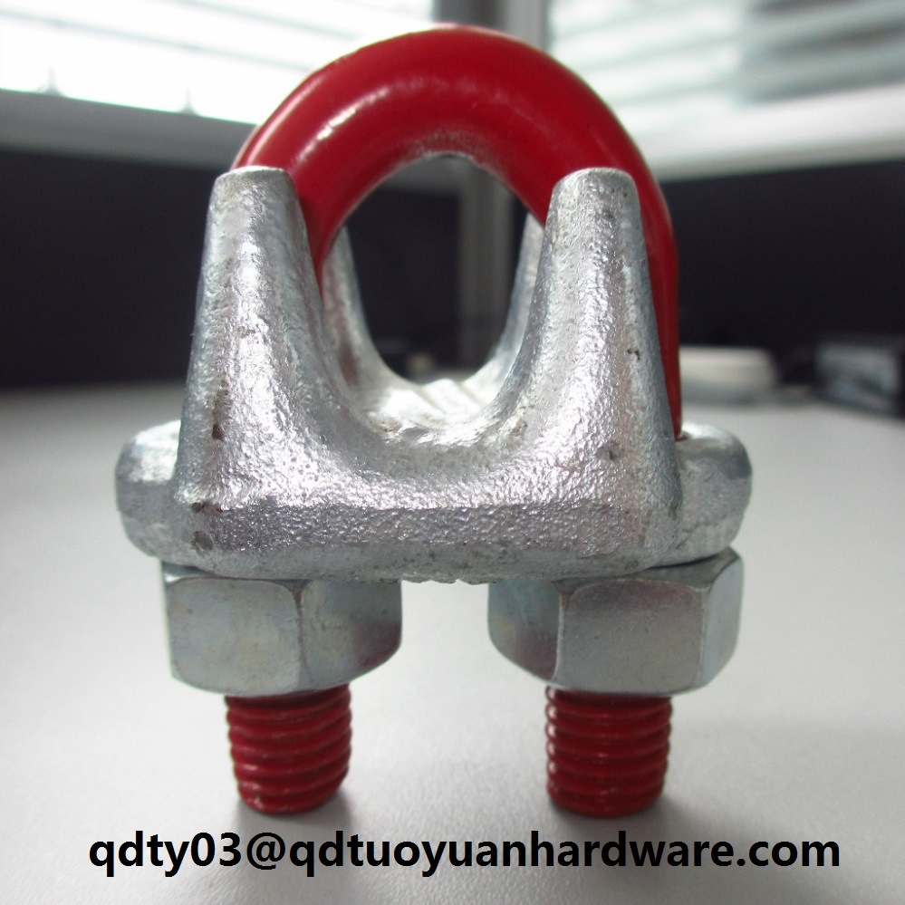 China G450 Galvanized Us Type Cable Clip for Wire Rope - China Wire ...