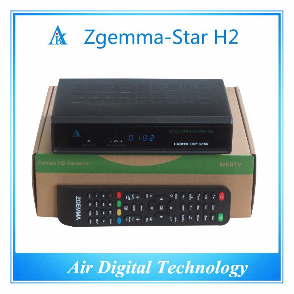 [Hot Item] Original Zgemma-Star H2 Set Top Box with Linux OS DVB-S2+DVB-T2/C