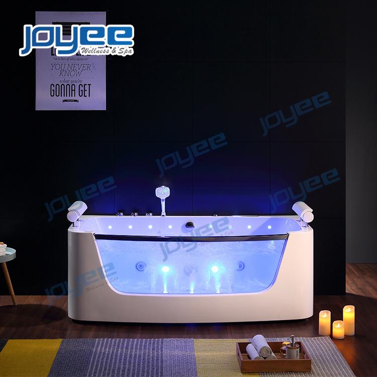 China Joyee Luxury Jacuzzi Bathtub With Colorful Led Light Indoor Hot Tub For Sale China Whirlpool Bathtub Indoor Jacuzzi
